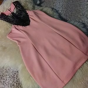 Arden B coral and black dress sz s NWOT